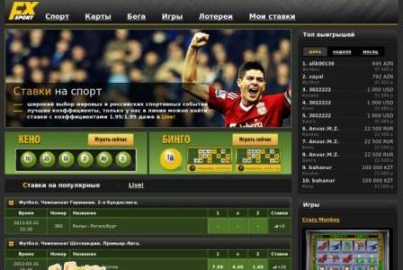 Букмекерская контора Forexsport