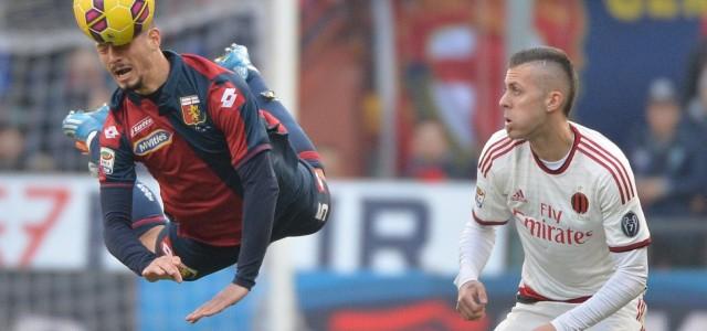 Чемпионат Италии: напряженный матч Милана против Дженоа
